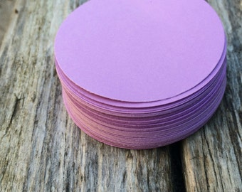 """Purple 2"""" paper circles, tags, wedding tag, gift tag, label, price tag, party decor, embellishment"""