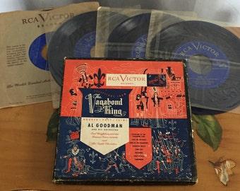 Vagabond Hits Record Album Collection Recordings Square Orange Blue Box Al Goodman Orchestra RCA Victor Vintage
