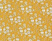 Liberty Fabric Capel G Tana Lawn Half Yard Mustard Yellow Floral
