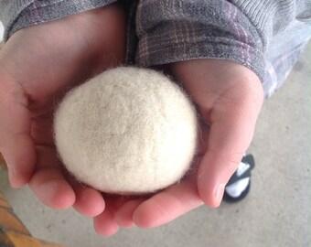 Felted Wool Dryer Balls , Natural