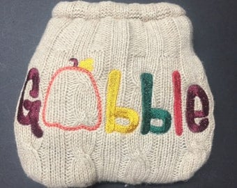 MamaBear BabyWear One Size Wool Diaper Cover Wrap - Gobble