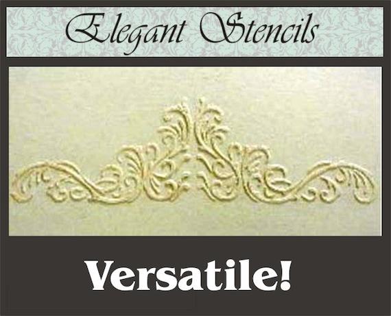 Raised Plaster Victorian Door Scroll Stencil Wall Stencil