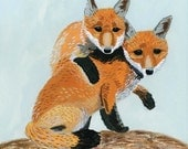 Wild Combo Foxes Card