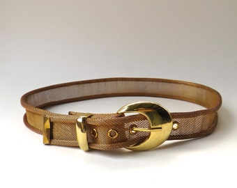 70s/80s vintage Gold and Copper Tone Metal Mesh Belt
