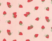 WINTER SALE - Hello Darling - 1 Yard - Strawberries in Coral (55114-17) - Bonnie and Camille for Moda Fabrics