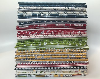 SUMMER SALE - Varsity - Fat Quarter Bundle (40) - Sweetwater for Moda Fabric