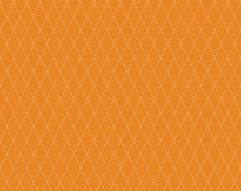 FALL SALE - Lucky Star - 1 yard - C4832-Argyle in Orange - Zoe Pearn for Riley Blake Designs