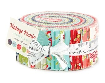 WINTER SALE - IN Stock - Vintage Picnic - Jelly Roll - by Bonnie and Camille for Moda Fabrics