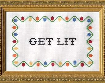Subversive Cross Stitch Kit: Get Lit