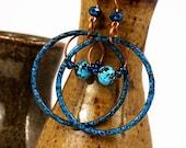 Boho Jewelry, Boho Earrings, Bohemian Jewelry, Hoop Earrings