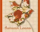 ACEO Orig  Digital Painting Autumn Leaves Quilt