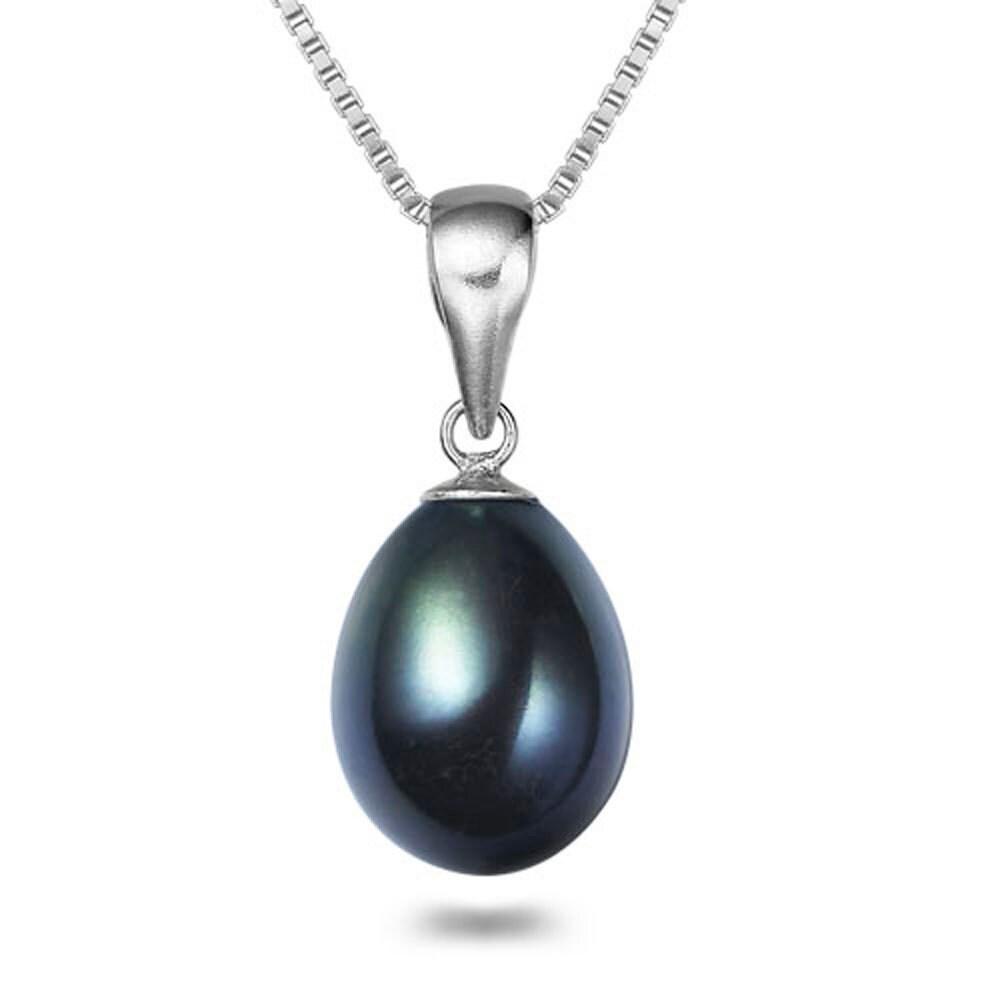 black pearl pendants freshwater drop pearl pendant necklace. Black Bedroom Furniture Sets. Home Design Ideas