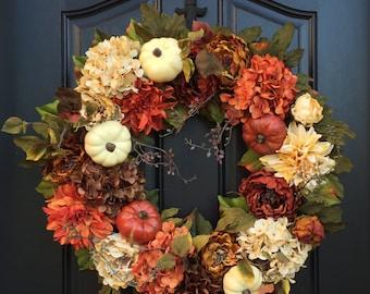 Thanksgiving Decor, XL Fall Wreaths, Fall Wreaths, Wreaths, Front Door Wreaths, Thanksgiving Wreath, Outdoor Fall Wreath, October Wreaths
