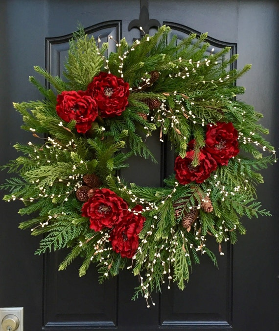 Decorating Wreaths: Christmas Wreath Artificial Pine Wreath 2015 Christmas