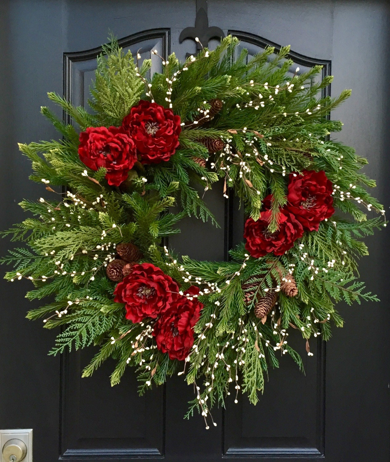 Christmas Wreath Artificial Pine Wreath 2015 Christmas