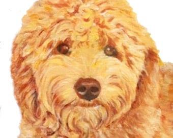 Custom Dog Painting Portrait – Acrylic on Canvas, 8 x10