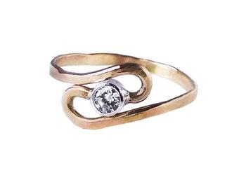 14K Gold Ebb and Flow Diamond Anniversary Ring