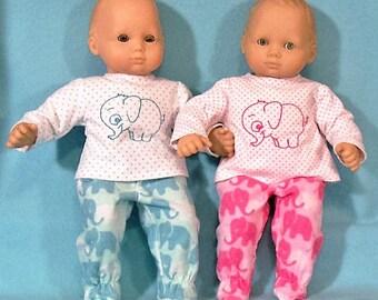 15 inch Doll Elephant Pajamas