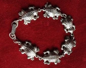 Vintage frog kid bracelet