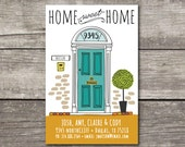 Moving Announcement or Housewarming Party New Home Illustration Postcard