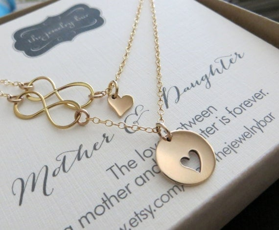 Jewelry Wedding Gift For Daughter : Mother daughter necklacemother daughter jewelryinfinity heart ...