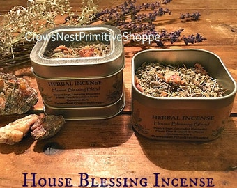 House Blessing pure herbal loose incense mixture to cleans and smudge your new home or space