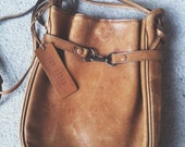 shoulder Leather bag, chocolate leather
