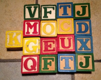 17 Wooden Alphabet Blocks (2)