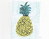 Pineapple Note Card of Original Illustration