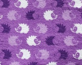 Made to Order Hedgehog Unisex Adult Flannel Pajama Pants, Purple, Blue or Pink Hedgehogs