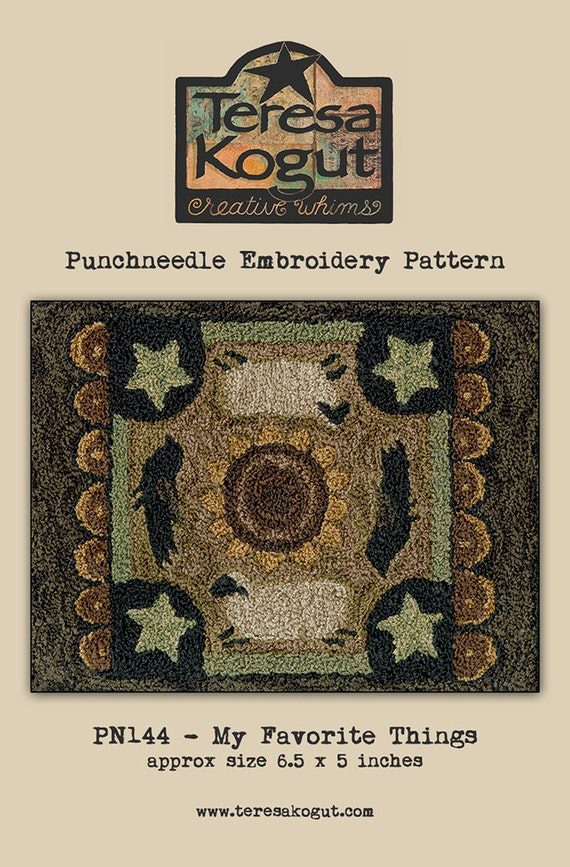 punchneedle teresa kogut pattern needlwork diy. Black Bedroom Furniture Sets. Home Design Ideas