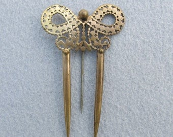 Lovely c1890s Antique Victorian Hair Comb, Hatpin