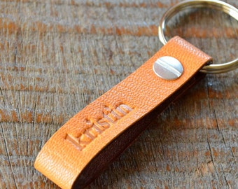 Personalized Clementine and Saddle Keychain- Long & Skinny Style