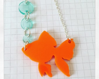 Goldfish bubble necklace