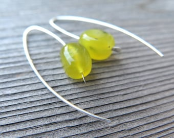 new jade earrings. vibrant yellow stone jewelry. modern splurge designs.