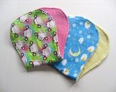 Ready To Ship - Set of 2 Flannel Baby Burp Cloths - Monkey Burp Cloth - Counting Sheep Burp Cloth