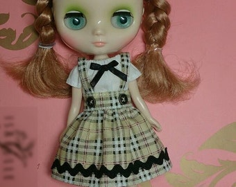 Checkered Suspender Skirt and Top for Middie Blythe