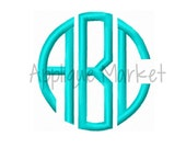 Machine Embroidery Design Embroidery Natural Circle Monogram Satin Font INSTANT DOWNLOAD