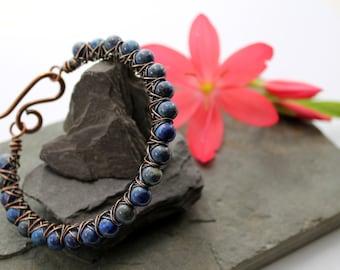Kiss Kross Bracelet - Copper and Lapis Lazuli