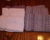 Dishcloths Knit in Cotton in Pinks RESERVED FOR KRISTIN