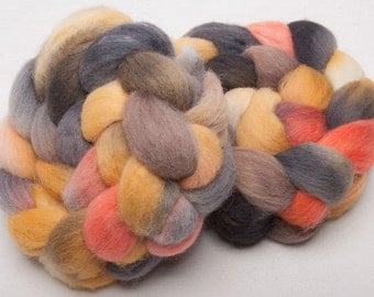 Cheviot 100g hand painted British wool tops roving fibre fiber Staithes