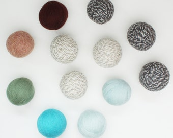 100% Felted Wool Dryer Balls - Mix and Match Colors