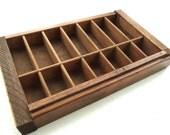 miniature wooden printer tray c