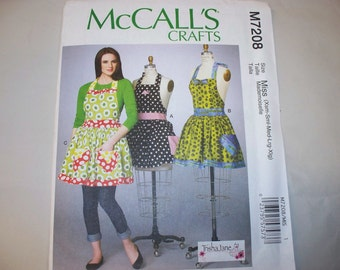 New McCall's Apron Pattern M7208 (Free US Shipping)