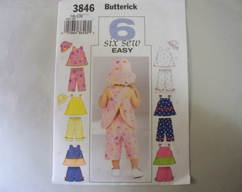 New Butterick Baby Clothes Pattern, 3846  (Free US Shipping)