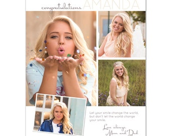 Senior Yearbook Ads Photoshop Templates - Your Smile - High School Yearbook Ad Custom Design
