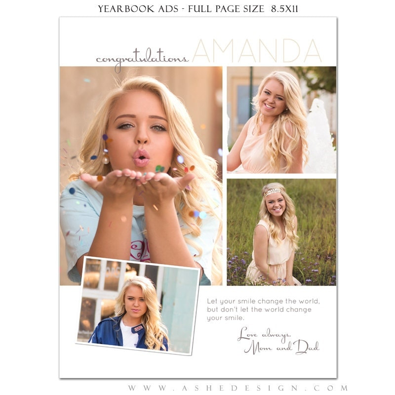 Senior yearbook ads photoshop templates your smile high for Free senior templates for photoshop