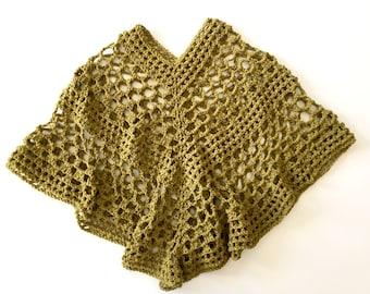 Lacy Poncho Crochet PATTERN - Summer - Poncho Crochet Pattern - 7 sizes - Beatrice