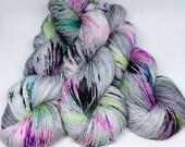 Hand Dyed Sock Yarn - SW Sock 80/20 - Superwash Merino Nylon - 400 yards - Ain't No Disco