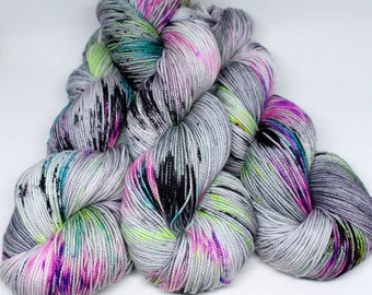 Hand Dyed Sock Yarn - SW Sock 80/20 - Superwash Merino Nylon - 400 yards - Ain't No Disco